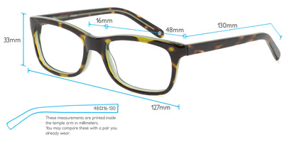 Nightingale Computer Gaming Glasses Frame Measurements