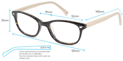Osaka Computer Gaming Glasses Frame Measurements