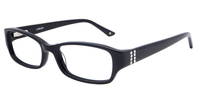 Perth Black Computer Glasses front side