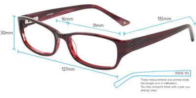 Perth Computer Gaming Glasses Frame Measurements