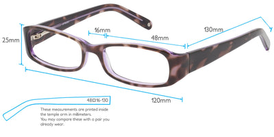 Sybil Computer Gaming Glasses Frame Measurements