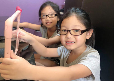 Sybil kids blue light blocking glasses by Umizato
