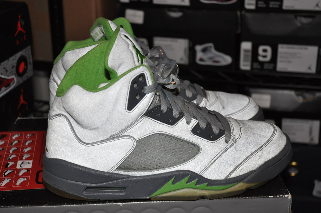 "AIr Jordan 5 Retro ""Green Bean"" Sz 9 LexCustoms - 3"
