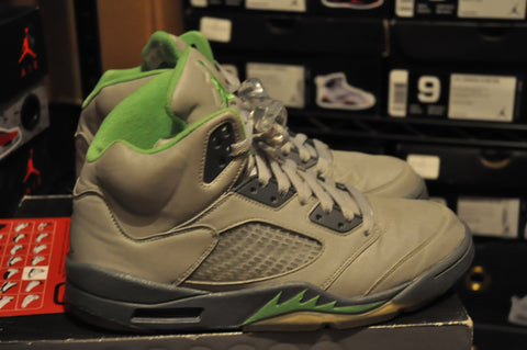 "AIr Jordan 5 Retro ""Green Bean"" Sz 9 LexCustoms - 1"