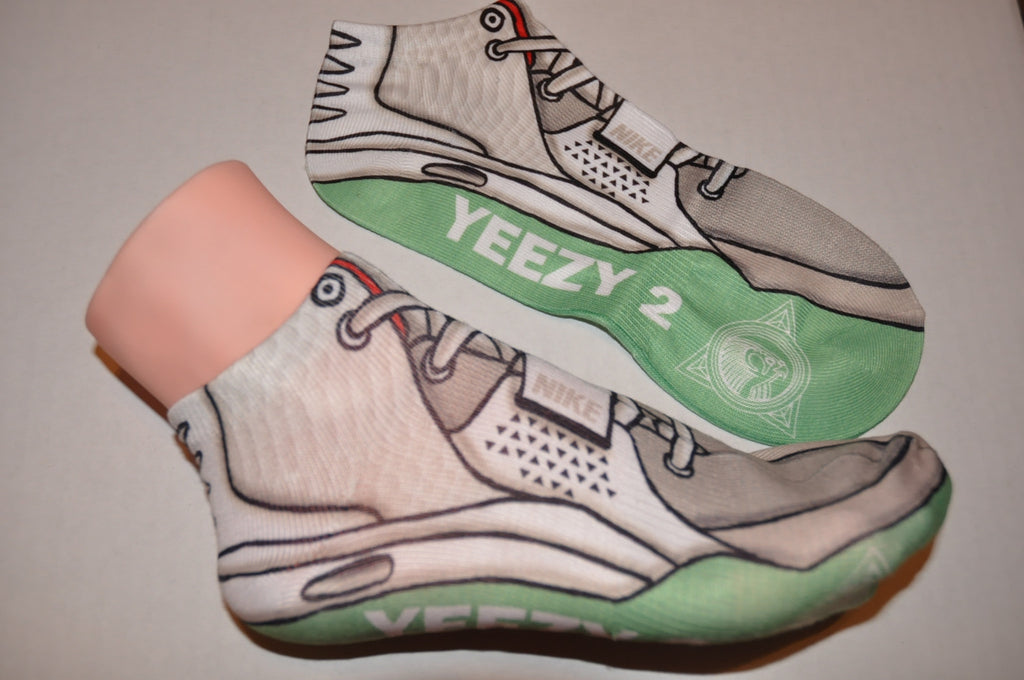 "Nike Air Yeezy 2 ""Platinum"" Socks"
