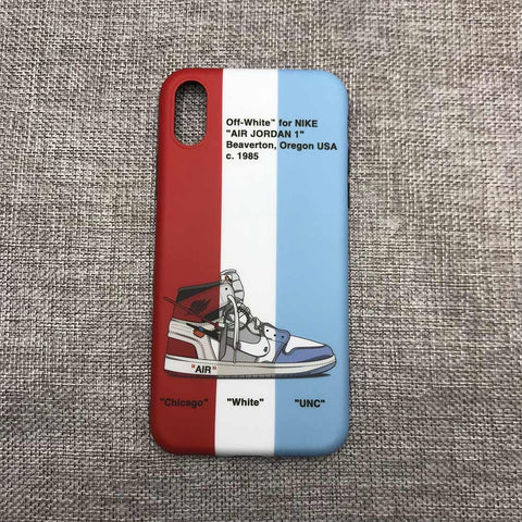 "Jordan Retro Off-White ""Chicago White UNC"" 1 iPhone Case"