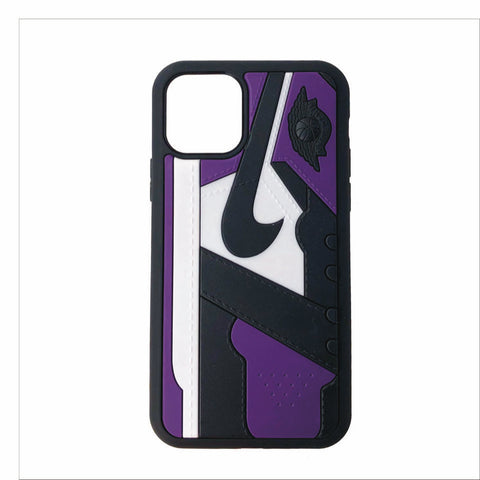"Jordan Retro ""Court Purple"" 1 iPhone Case"