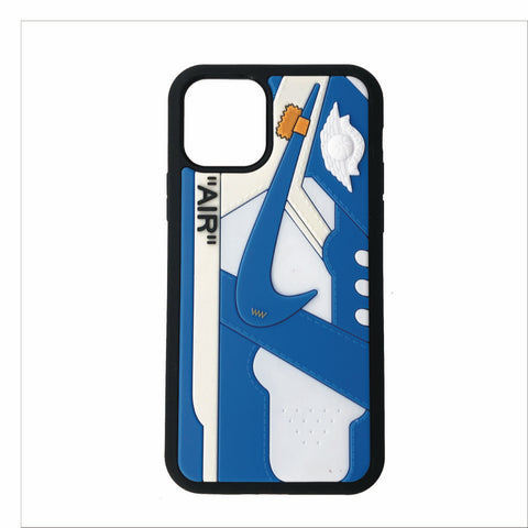 "Jordan Retro Off-White ""UNC"" 1 iPhone Case"