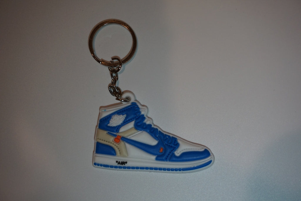 "Jordan 1 Retro Off-White ""University Blue"" Sneaker Keychain"