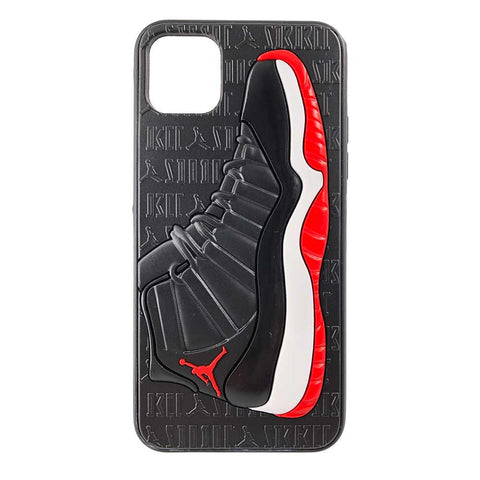 "Jordan Retro ""Bred"" 11 iPhone Case"