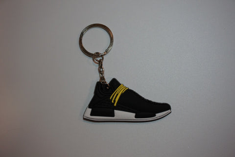 "Adidas NMD HU Pharrell Human Race ""Species Black"" Sneaker Keychain"