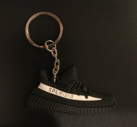 "Adidas Yeezy Boost 350 V2 Core Black ""White"" Sneaker Keychain"