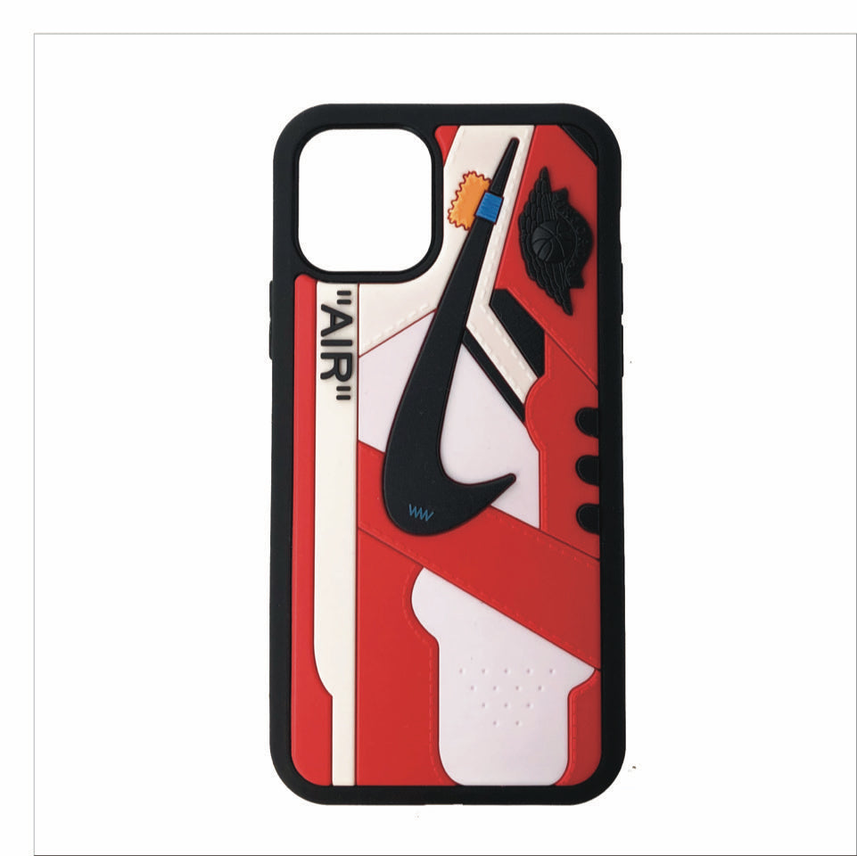 "Jordan Retro Off-White ""Chicago"" 1 iPhone Case"