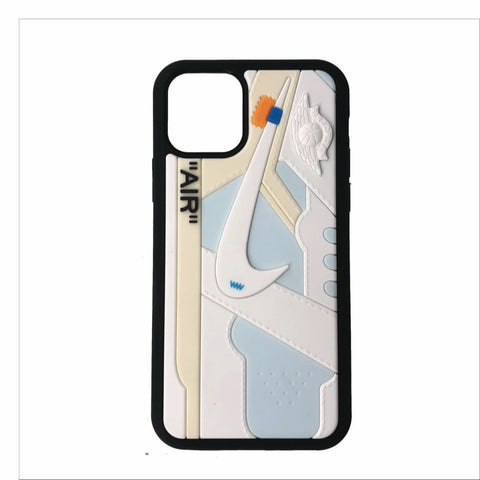 "Jordan Retro Off-White ""White"" 1 iPhone Case"