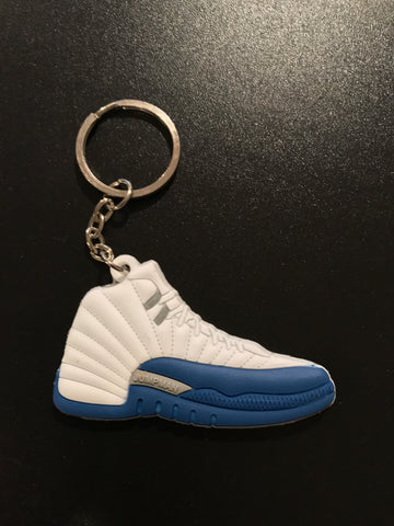 "Jordan 12 Retro ""French Blue"" Sneaker Keychain"