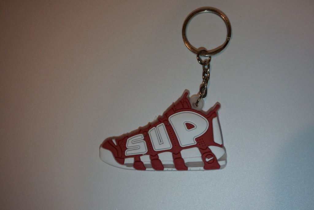 "Air More Uptempo Supreme ""Suptempo"" Red Sneaker Keychain"