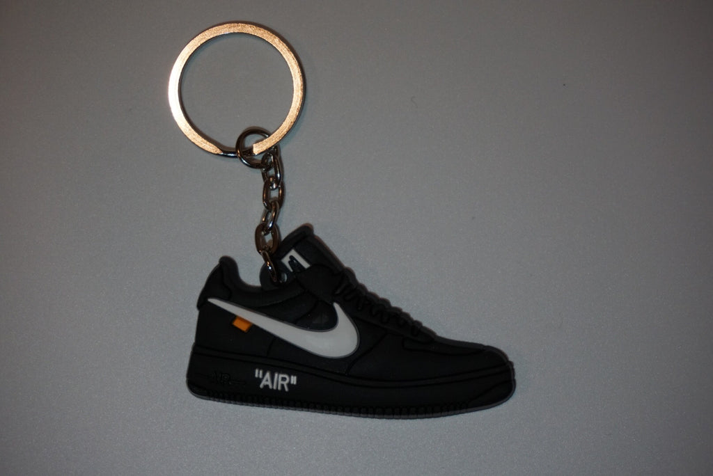 "Air Force 1 Low Off-White ""Black White"" Sneaker Keychain"