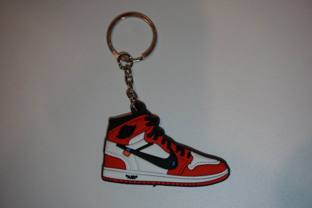 "Jordan 1 Retro Off-White ""Chicago"" Sneaker Keychain"