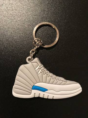"Jordan 12 Retro ""University Blue"" Sneaker Keychain"