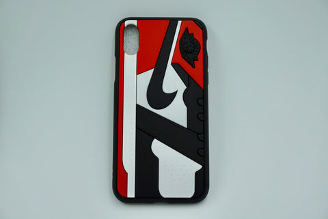 "Jordan Retro ""Black Toe"" 1 iPhone Case"