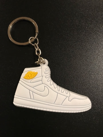 "Jordan 1 Retro ""Pinnacle White"" Sneaker Keychain"