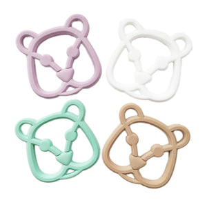 Bear Teether, silicone teether, teether toy, baby toy, baby teether, teething ring, logan and alice, designer teether, natural teether