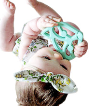 Load image into Gallery viewer, Fox Teether, silicone teether, teether toy, baby toy, baby teether, teething ring, logan and alice, designer teether, natural teether