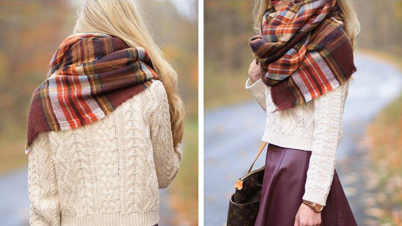 Fall Outfit Inspiration: How to tie Blanket Scarves