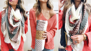 How Transition to Fall With A Blanket Scarf