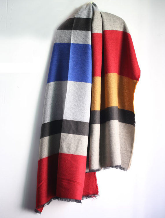 Oversized Wool Cashmere Blanket Scarf