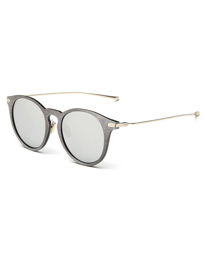 Cork Grain Sunglasses - Silver