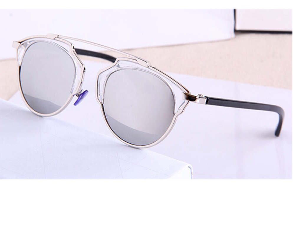 Fashion Cateye Polarized Sunglasses Silver