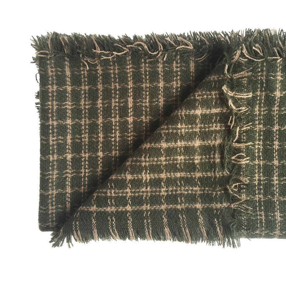 Check Scarf | Dark Green