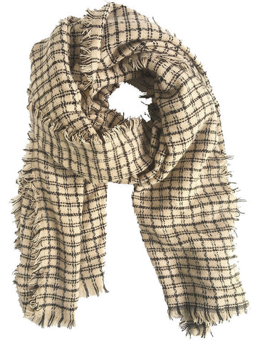 Double Sided Plaid Blanket Scarf Green