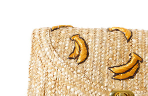 Banana Woven Straw Cross Body Bag