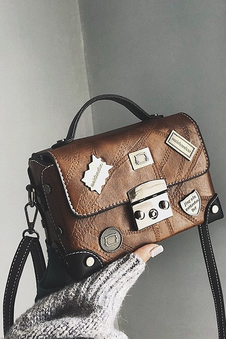 Badge Retro Pu Stachel Bag