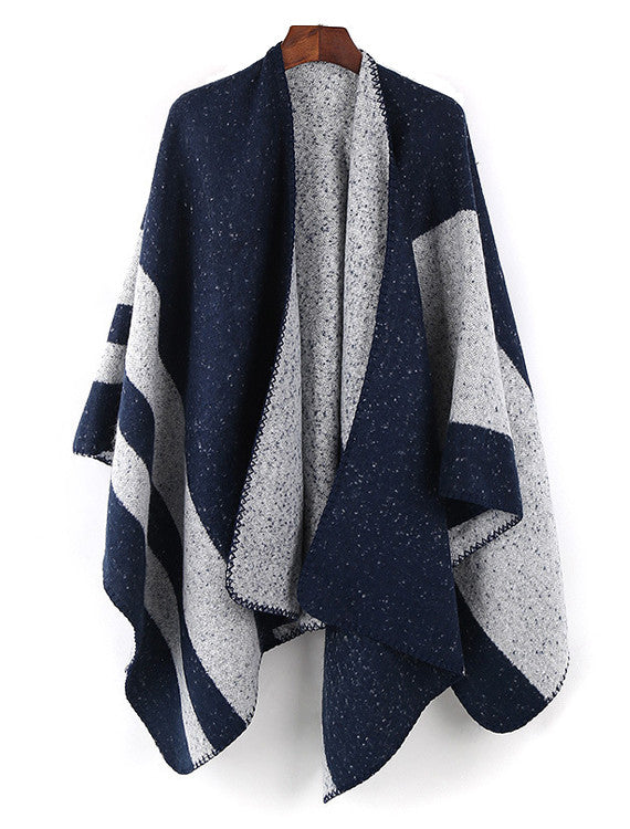 Navy Stripe Cape