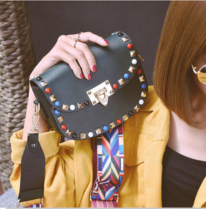 Colorful Studded Crossbody Bag | Three Colors