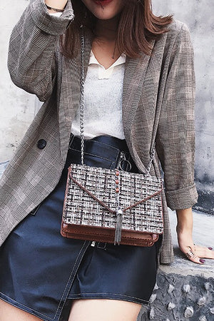 Women's Elegant Lattice Satchel