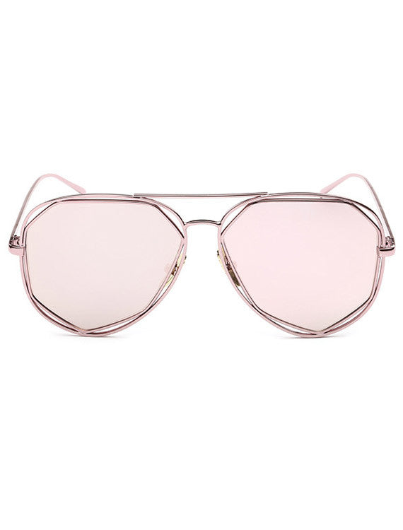 Molde Sunglasses - Pink Mirror