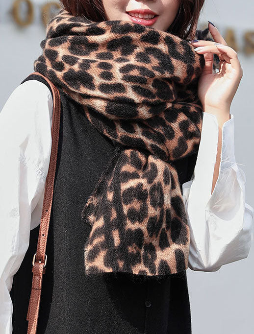 Fall Leopard Scarves