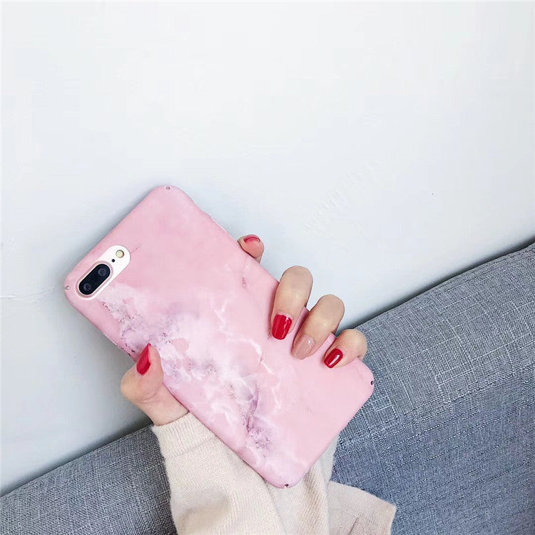 All Pink Marble iPhone Cases
