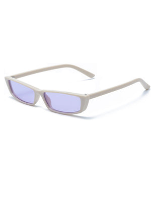 Retro Thin Rectangle 1990's Small Tiny Sunglasses
