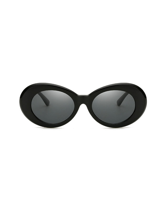 Retro Oval White Sunglasses