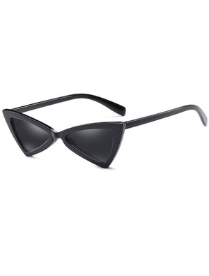 Retro Triangle 90s Cat Eye Sunglasses Black