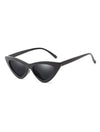 1990s Retro Vintage Cat Eye Sunglasses Black