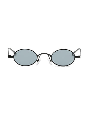 Retro 1990's Small Oval Metal Sunglasses