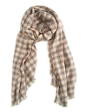 Blush Pink Check Scarf