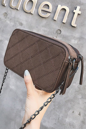 Chain Grinding Crossbody Bag