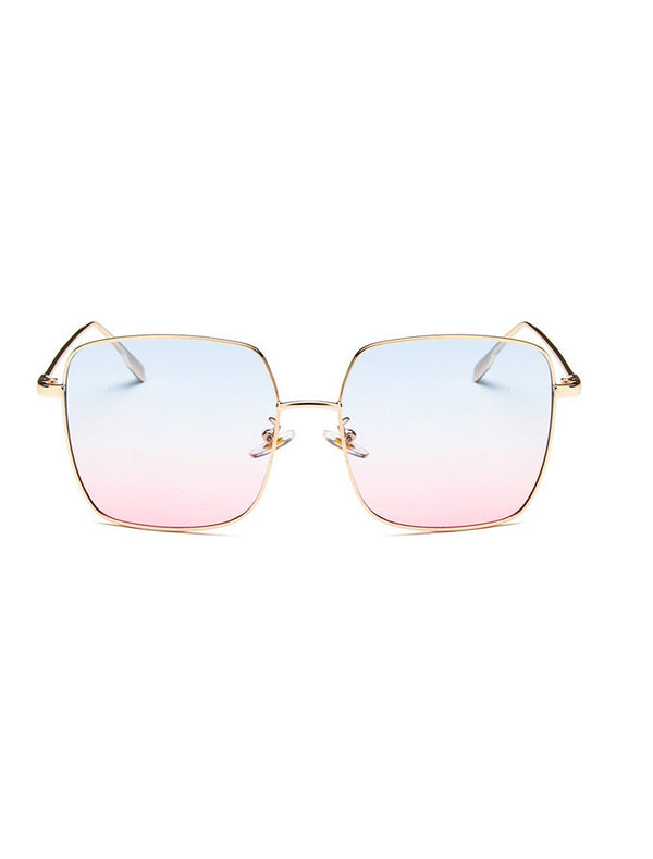 Chic Modern Slim Metal Frame Sunglasses